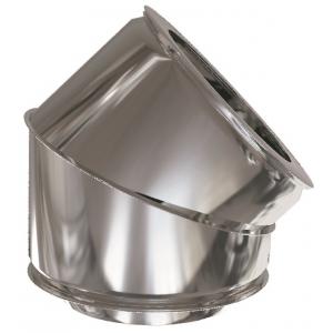 Codo 45º para estufa de pellets