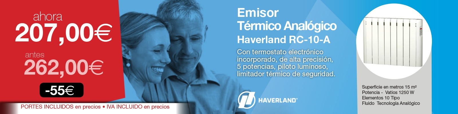 Emisor termico Haverland RC-10A